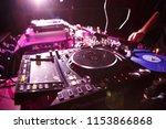 kiev 4 july 2018  dj turntable... | Shutterstock . vector #1153866868