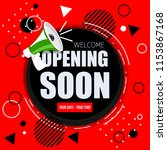 opening soon banner | Shutterstock .eps vector #1153867168
