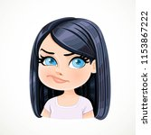 beautiful doubt cartoon... | Shutterstock .eps vector #1153867222