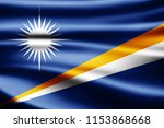 marshall islands flag of silk... | Shutterstock . vector #1153868668