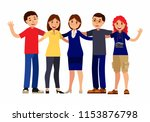 friendship group of people... | Shutterstock .eps vector #1153876798