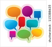 collection of colorful speech... | Shutterstock .eps vector #115388635