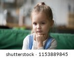serious pensive clever cute kid ... | Shutterstock . vector #1153889845