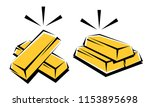 stack of gold bar. gold icons... | Shutterstock .eps vector #1153895698