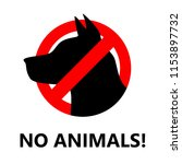 restriction icon with no... | Shutterstock .eps vector #1153897732
