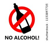 no alcohol sign | Shutterstock .eps vector #1153897735