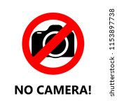no camera allowed sign to... | Shutterstock .eps vector #1153897738