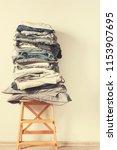 stacks monochrome gradient...   Shutterstock . vector #1153907695