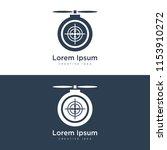drone logo design | Shutterstock .eps vector #1153910272