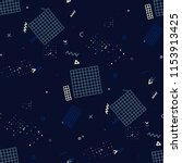retro memphis pattern. seamless ... | Shutterstock .eps vector #1153913425