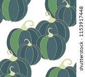 halloween background with... | Shutterstock .eps vector #1153917448