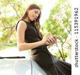 young attractive businesswoman... | Shutterstock . vector #115391962
