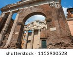 ruins of the old theater ... | Shutterstock . vector #1153930528