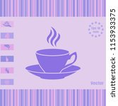 coffee cup with saucer and... | Shutterstock .eps vector #1153933375