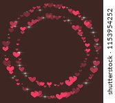 cute background with hearts on... | Shutterstock .eps vector #1153954252
