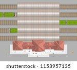 vector illustration. railroad... | Shutterstock .eps vector #1153957135
