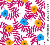 bright seamless pattern with... | Shutterstock .eps vector #1153957795