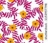 bright seamless pattern with... | Shutterstock .eps vector #1153957798
