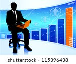 businessman with laptop.  eps10 ... | Shutterstock .eps vector #115396438