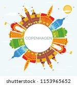 copenhagen denmark city skyline ... | Shutterstock . vector #1153965652