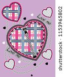 fabric and zipper patterned... | Shutterstock .eps vector #1153965802