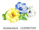 beautiful bouquet of flowers ... | Shutterstock . vector #1153967155