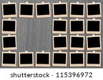 antique picture frame on the... | Shutterstock . vector #115396972