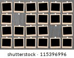 antique picture frame on the...   Shutterstock . vector #115396996