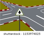 a junction view  traffic... | Shutterstock .eps vector #1153974025