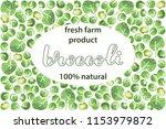 vector illustration of broccoli ... | Shutterstock .eps vector #1153979872