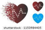 vector dotted heart pulse icon... | Shutterstock .eps vector #1153984405