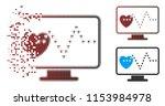 vector cardio monitoring icon... | Shutterstock .eps vector #1153984978