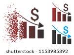 vector recession icon in... | Shutterstock .eps vector #1153985392