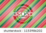 sos christmas colors style... | Shutterstock .eps vector #1153986202