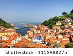 cudillero  picturesque fishing... | Shutterstock . vector #1153988275