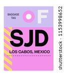 los cabos mexico airport... | Shutterstock .eps vector #1153998652