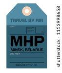 minsk belarus airport luggage... | Shutterstock .eps vector #1153998658