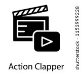 a clapper board with the play... | Shutterstock .eps vector #1153999228
