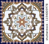 ornate bandanna with  paisley ... | Shutterstock .eps vector #1154005978