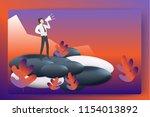 business reaching success peak...   Shutterstock .eps vector #1154013892