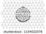 minority grey badge with...   Shutterstock .eps vector #1154023378