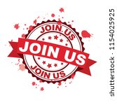 red rubber stamp with join us... | Shutterstock .eps vector #1154025925