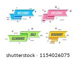flat linear promotion ribbon... | Shutterstock .eps vector #1154026075