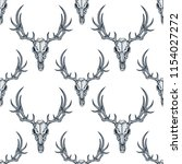vector seamless pattern with... | Shutterstock .eps vector #1154027272