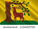 flag of berkshire is a county... | Shutterstock . vector #1154029705