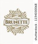 brown passport rossete with... | Shutterstock .eps vector #1154030068