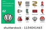 filled outline icon pack for... | Shutterstock .eps vector #1154041465