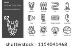 outline icon pack for food and... | Shutterstock .eps vector #1154041468