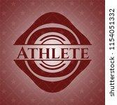 athlete retro red emblem   Shutterstock .eps vector #1154051332