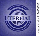 eternal emblem with jean high... | Shutterstock .eps vector #1154058838